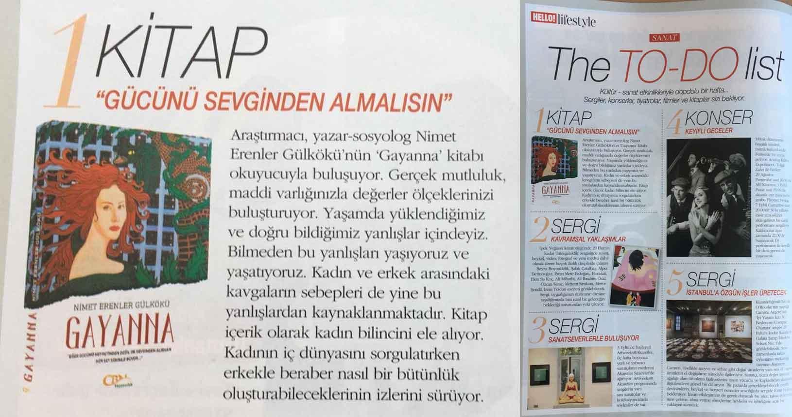 Hello Dergisi - Gayanna