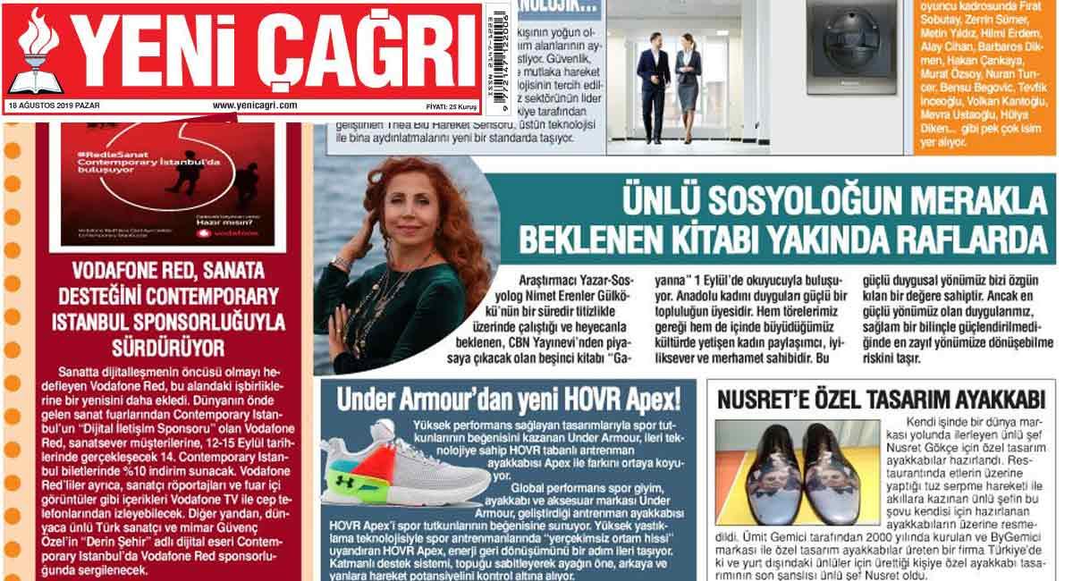 Yeni Çağrı Gazetesi - Nimet Erenler Gülkökü