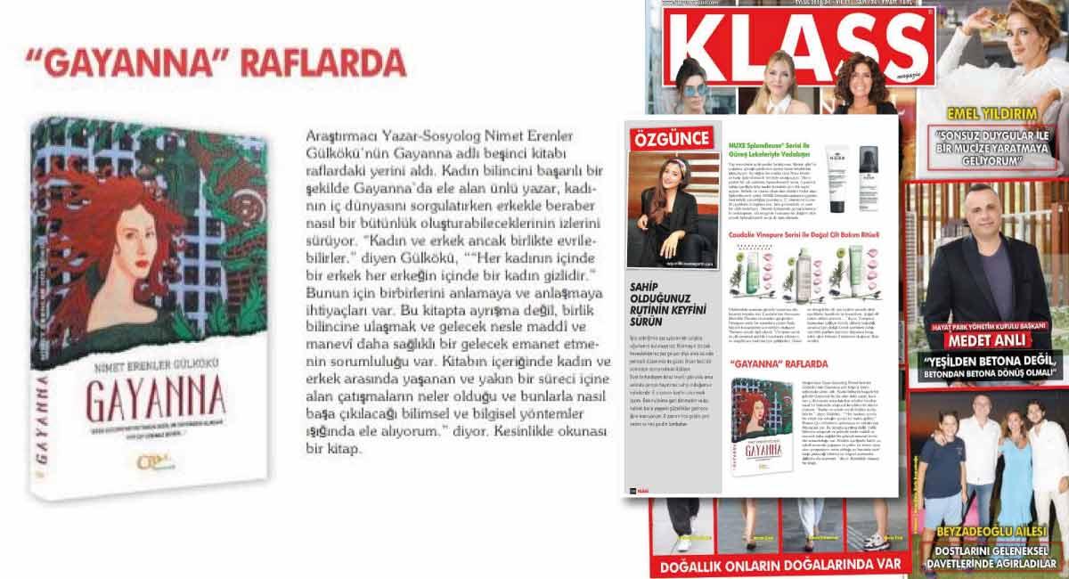 Klass Magazin - Gayanna Raflarda